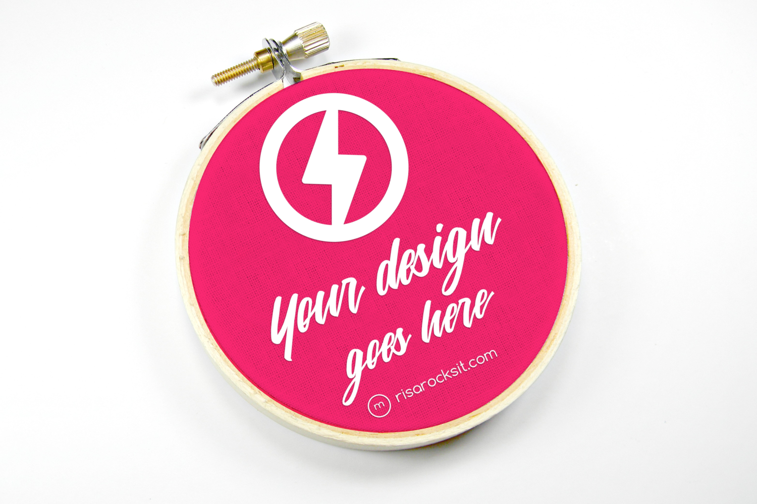Embroidery Hoop Mock Up By Risa Rocks It Thehungryjpeg Com