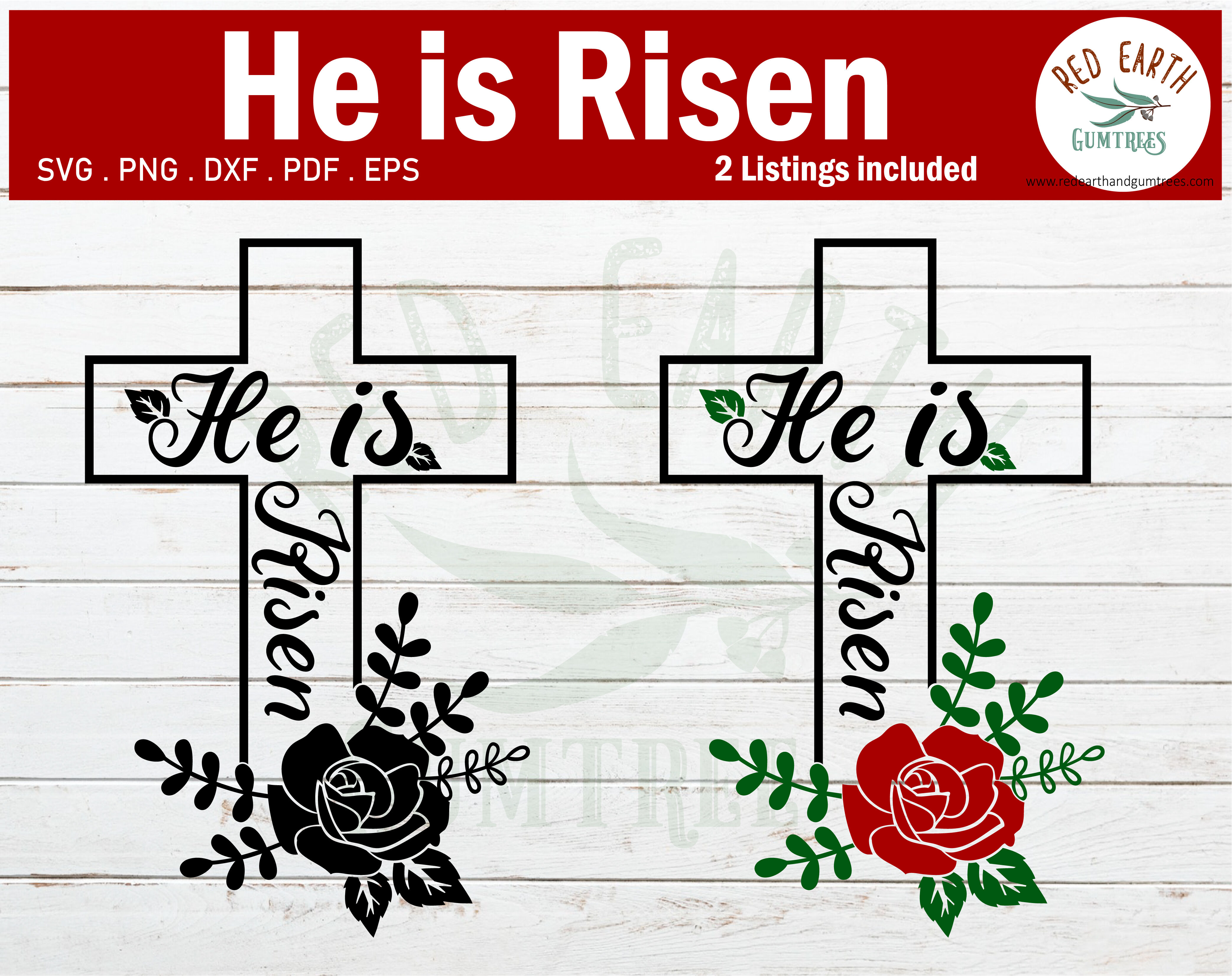 Easter He Is Risen Svg Jesus Has Risen Svg Png Dxf Pdf Eps By
