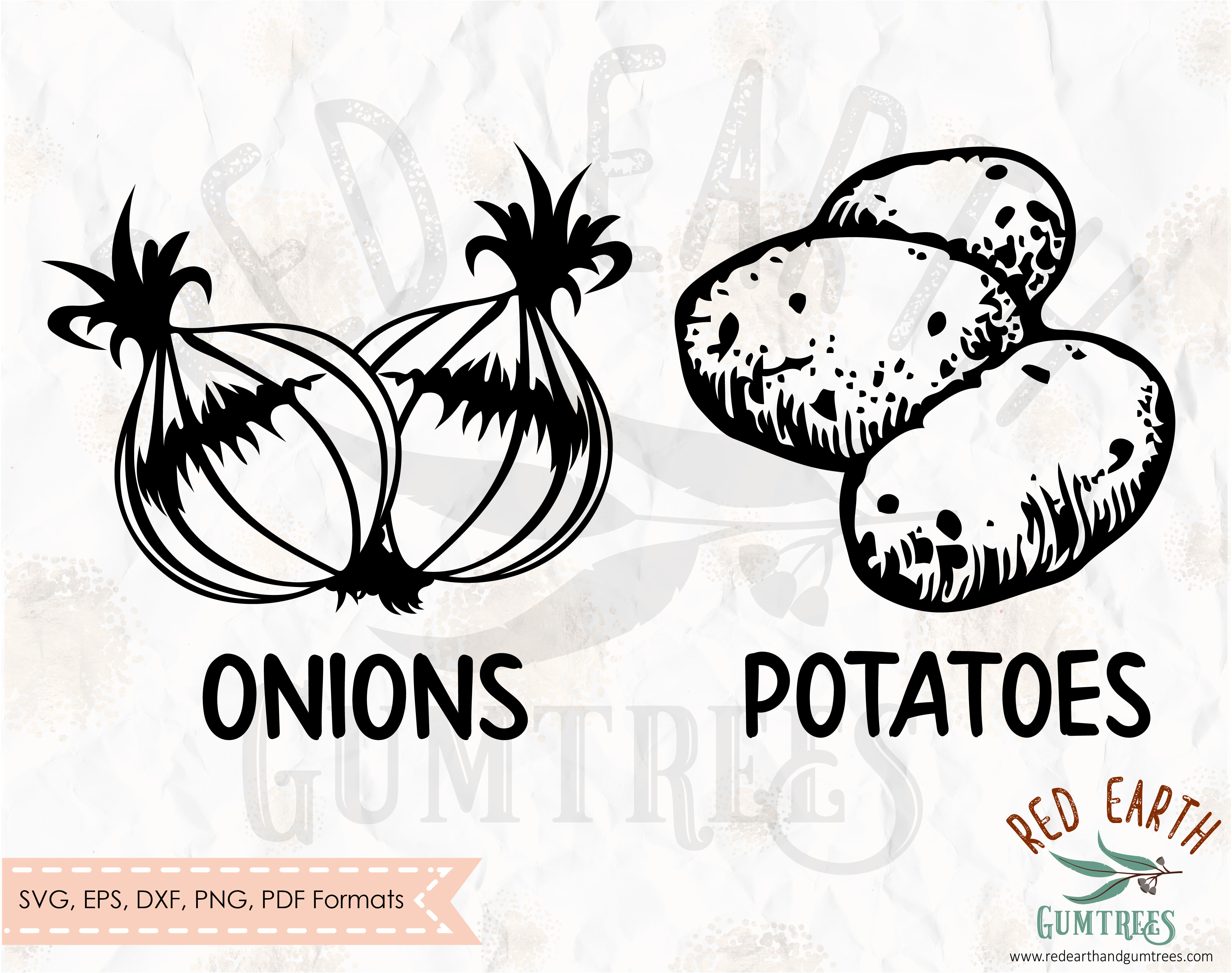 Onion And Potato Kitchen Sack Decal Svg Png Dxf Pdf Eps By