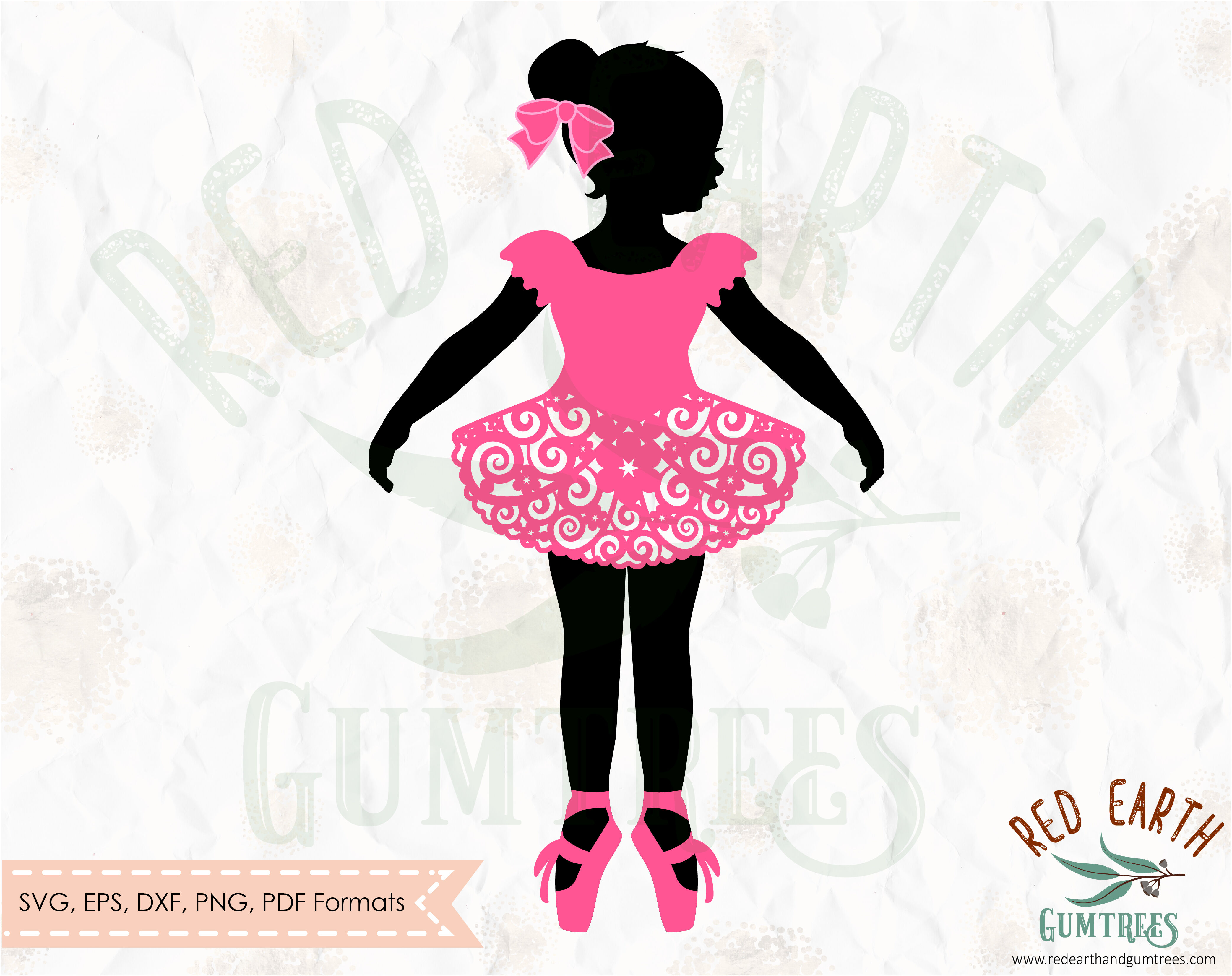 Swirly Skirt Ballerina Svg Girl Ballet Dancer Svg Ballerina Tutu