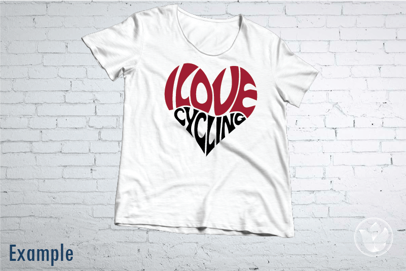 I Love Cycling Word Art Heart Svg Dxf Eps Png Jpg Cut File By