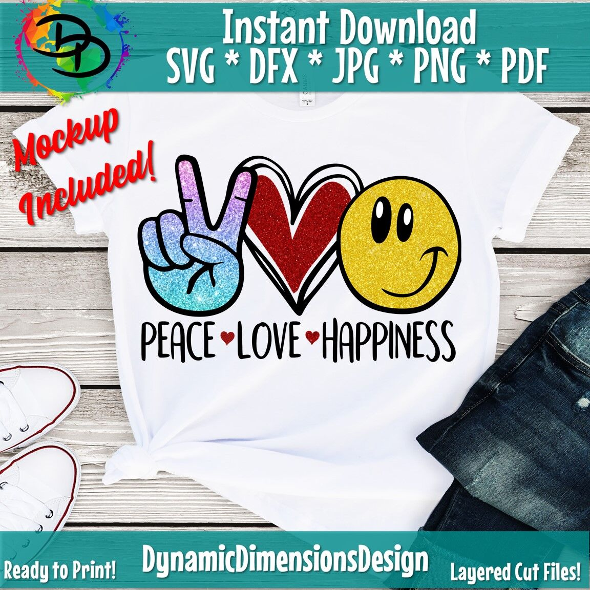 Peace Love Happiness Svg Smiley Face Svg Peace Love Svg Heart
