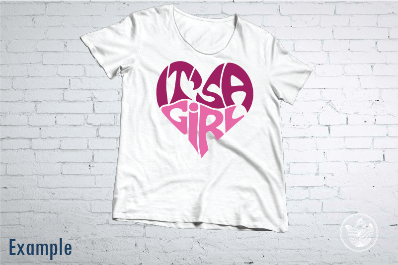 It S A Girl Word Art Svg Dxf Eps Png Jpg Gender Reveal By