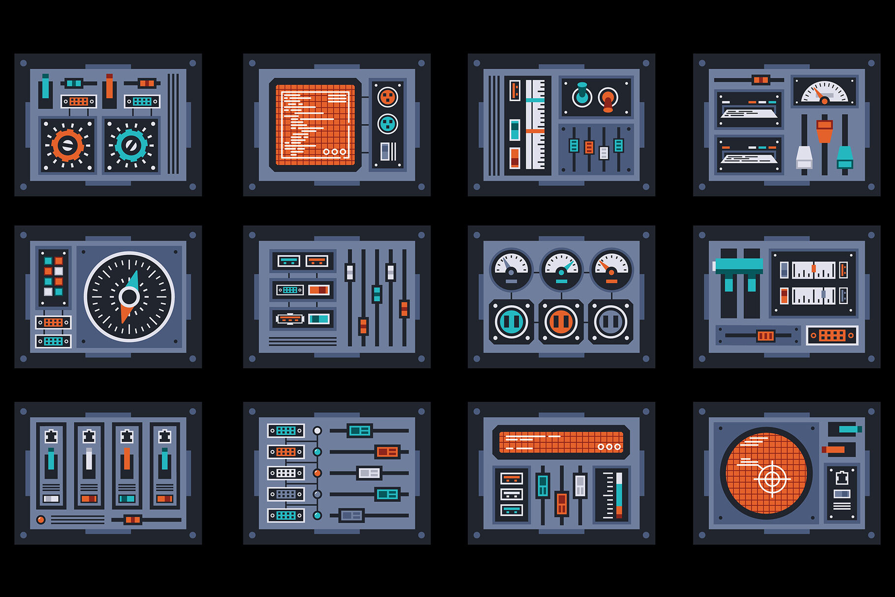 Control Panels Spaceship By Agor2012 Thehungryjpeg Com