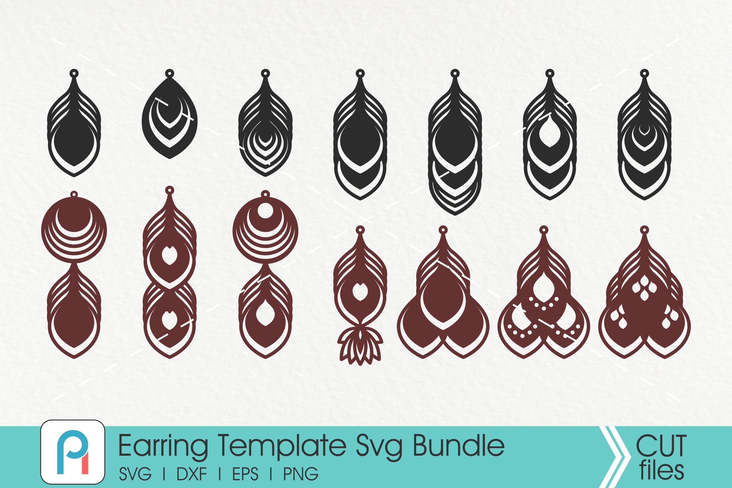 Earrings Svg Earrings Template Svg Leather Earrings Svg By
