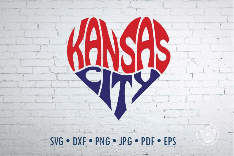 Kansas City Heart Svg Dxf Eps Png Jpg Cut File Svg Heart By