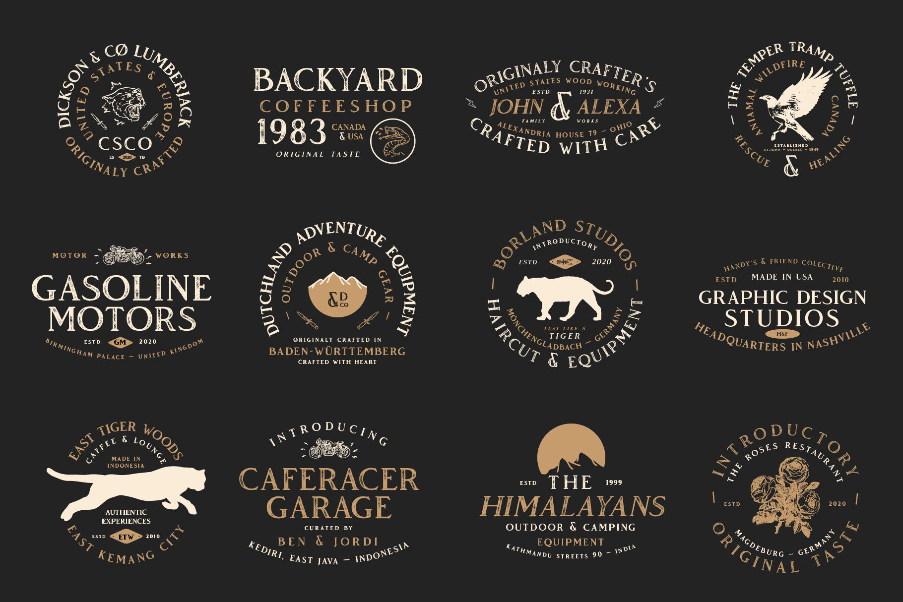 Vendeur Vintage Font Family Extras By Craft Supply Co