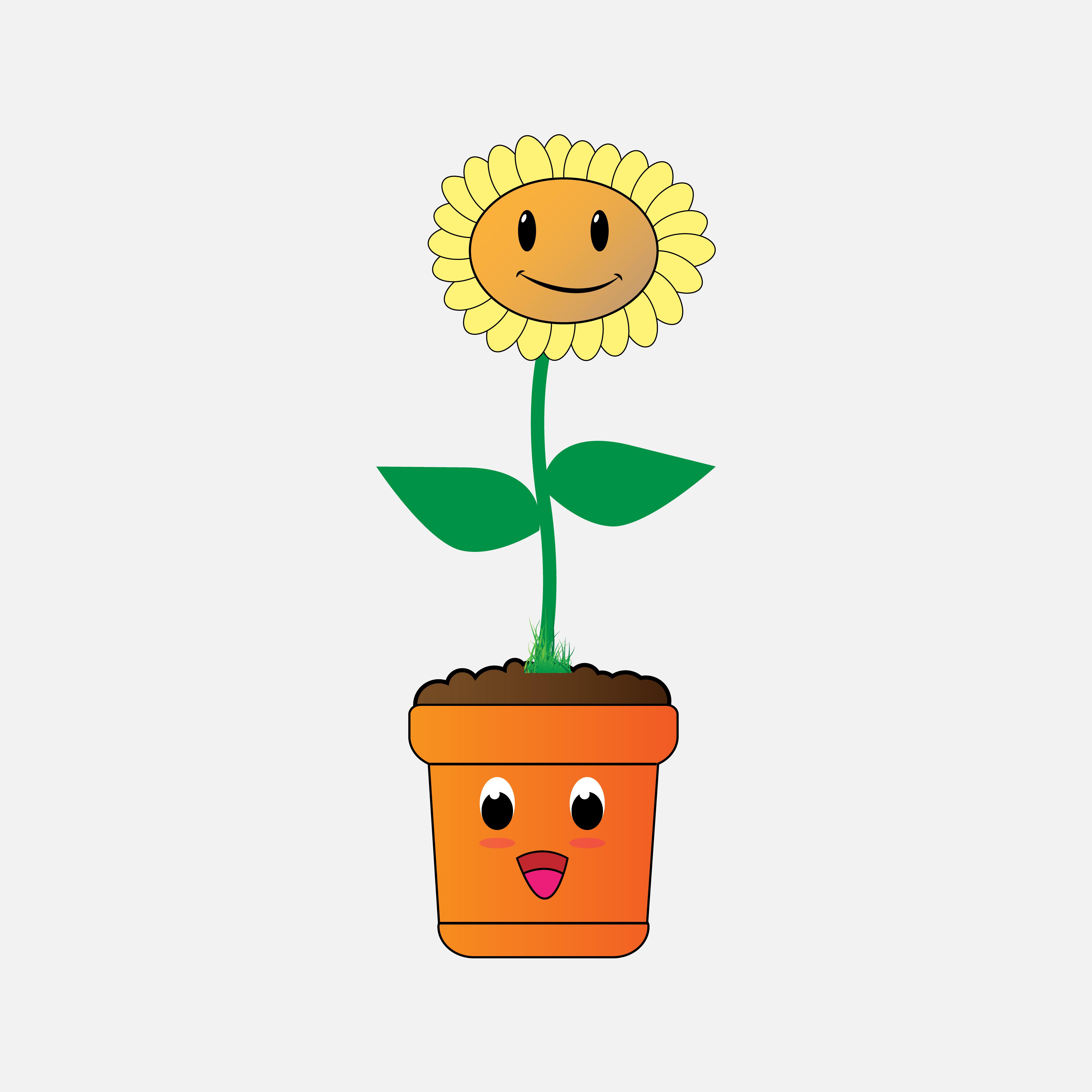 Sun Flower By Curutdesign Thehungryjpeg Com