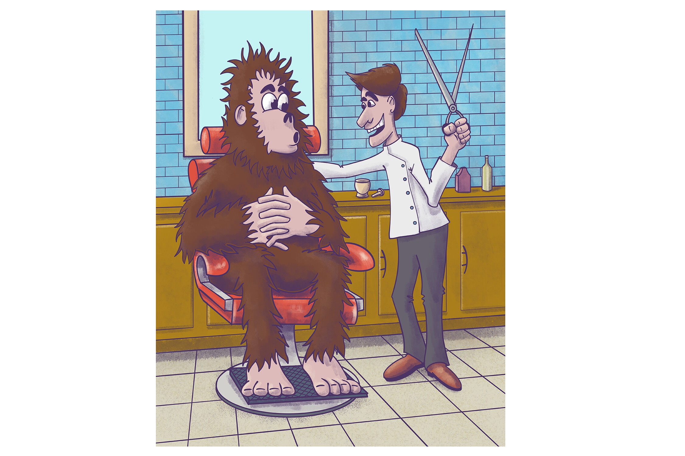 Bigfoot Haircut By John Morris Thehungryjpeg Com
