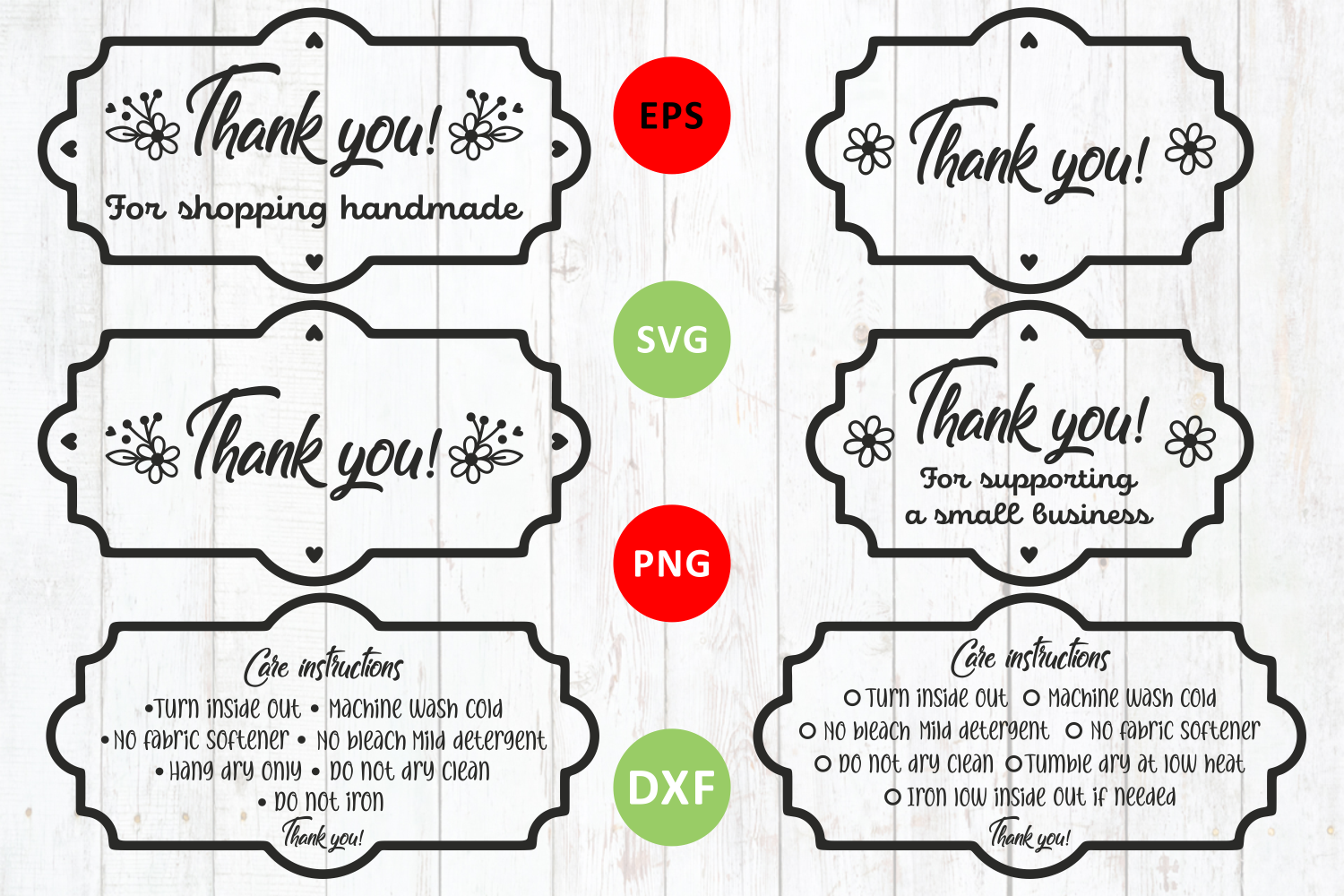 Thank You Svg And Washing Instruction Svg By Zoya Miller Svg