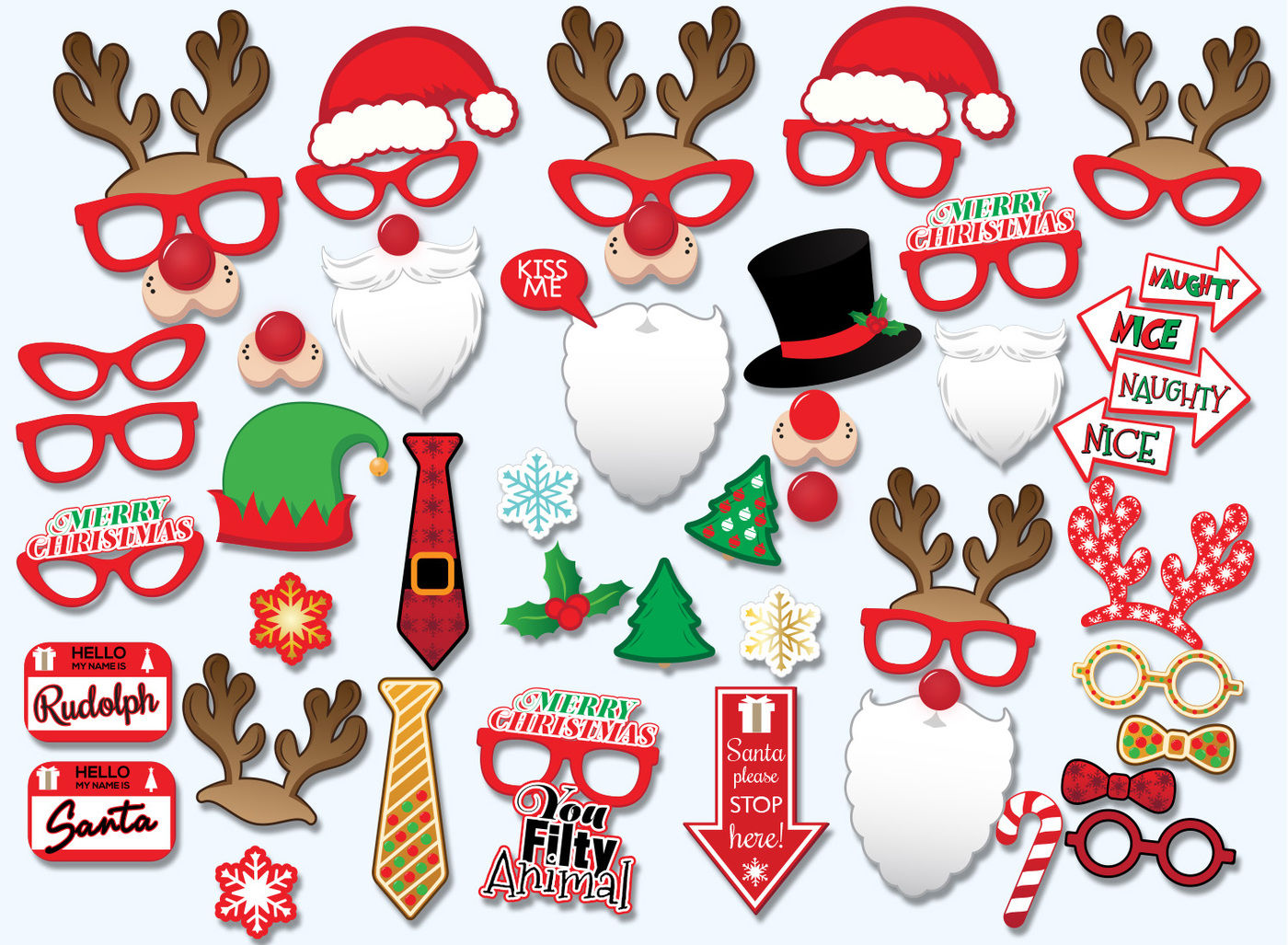 picture about Christmas Photo Booth Props Printable known as Xmas Printable Props, picture-booth props, Xmas