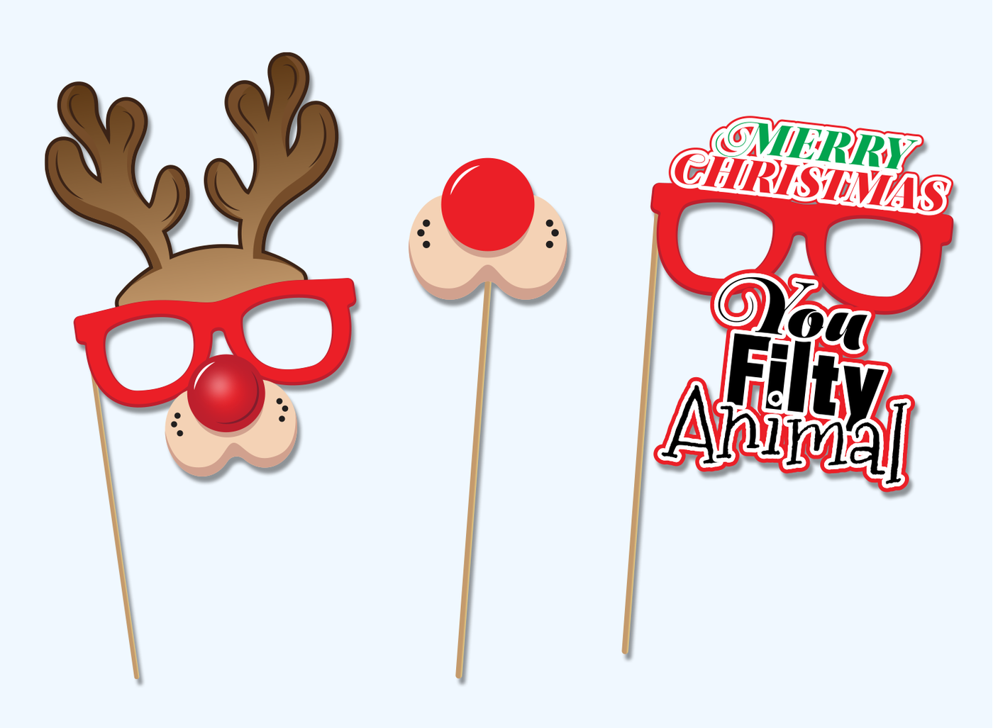 picture regarding Christmas Photo Props Printable called Xmas Printable Props, photograph-booth props, Xmas