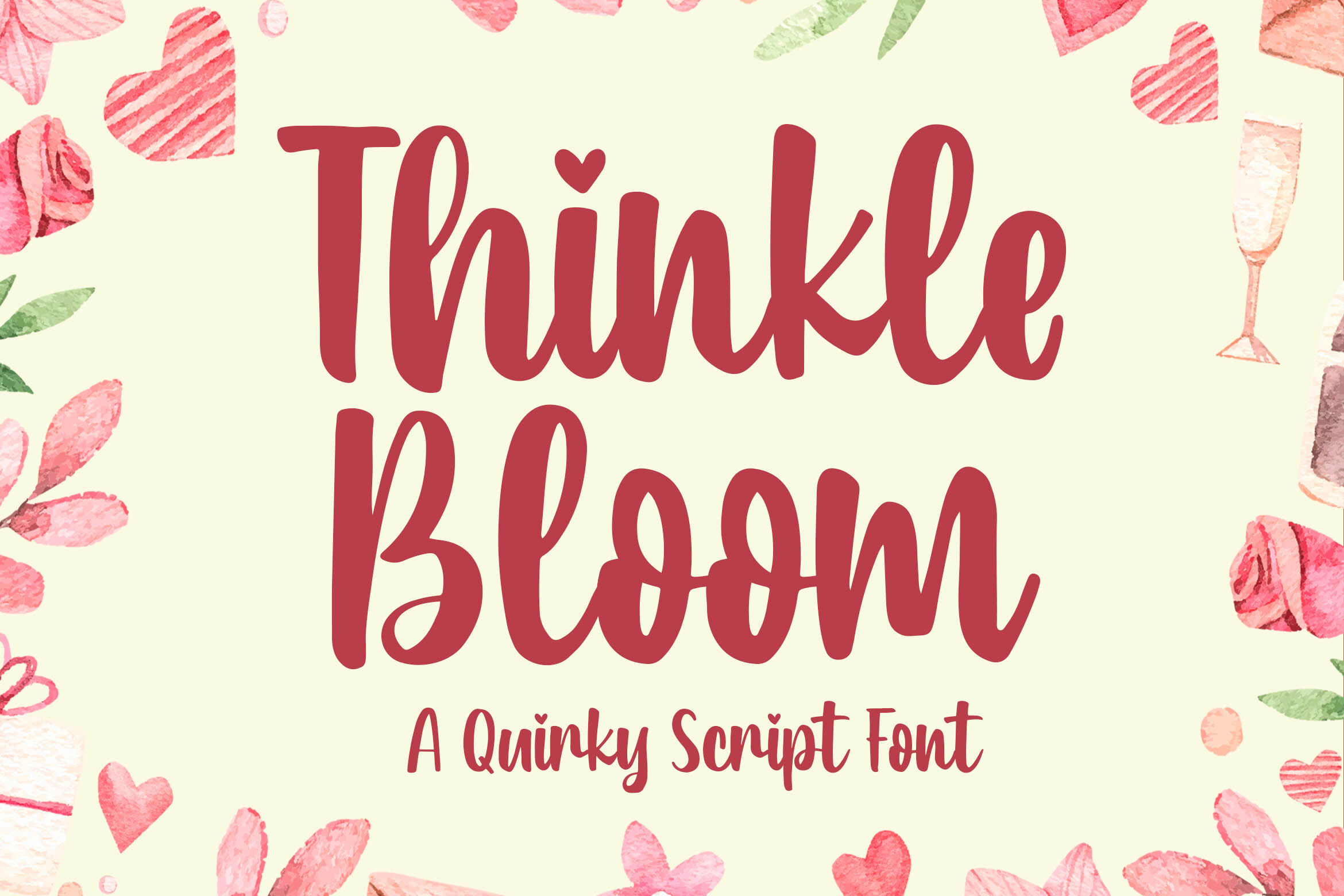 Thinkle Bloom A Quirky Font By Blankids Thehungryjpeg Com