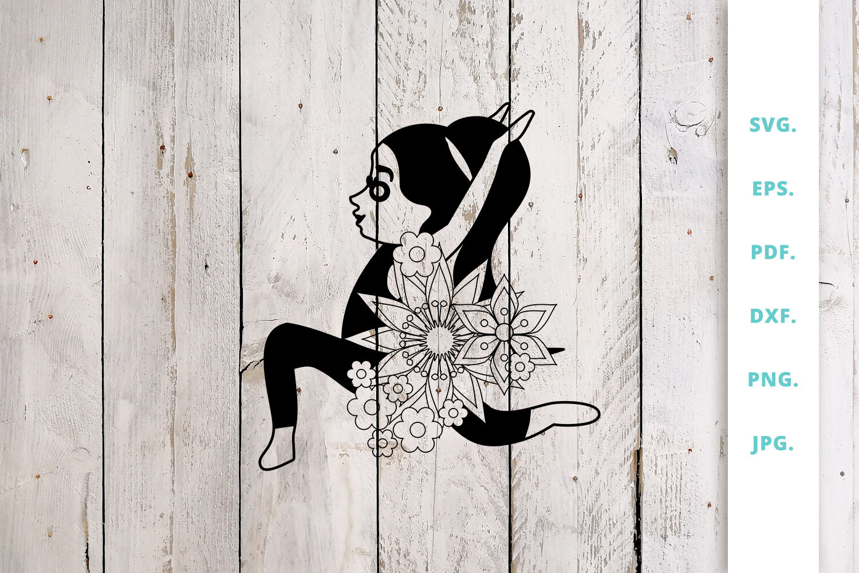 Floral Cute Yoga Girl Cut File 7 By Sintegra Thehungryjpeg Com