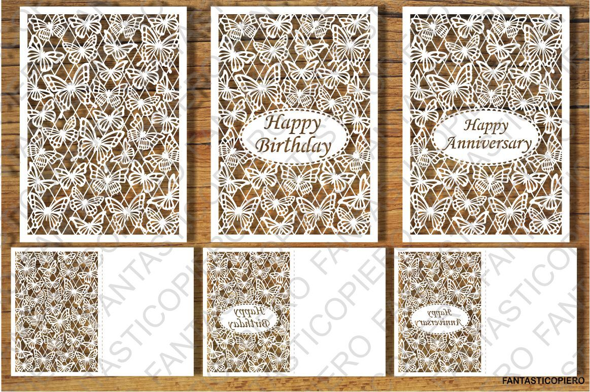 Happy Birthday Anniversary Greeting Card Svg Files By