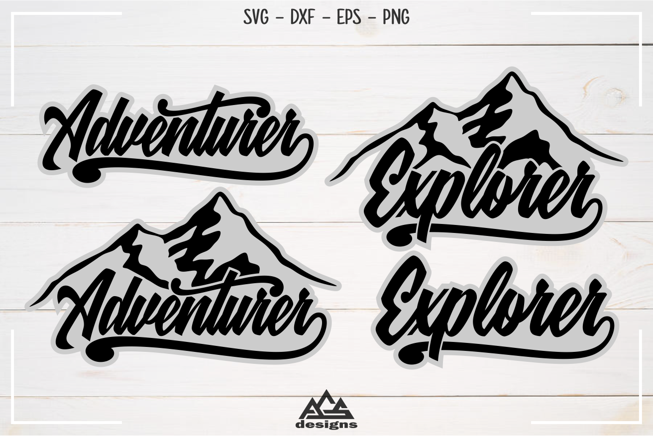 Adventurer Explorer Typography Svg Design By Agsdesign