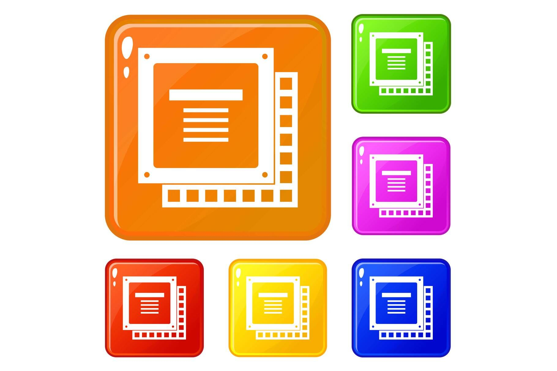 computer cpu processor chip icons set vector color by ylivdesign thehungryjpeg com the hungry jpeg