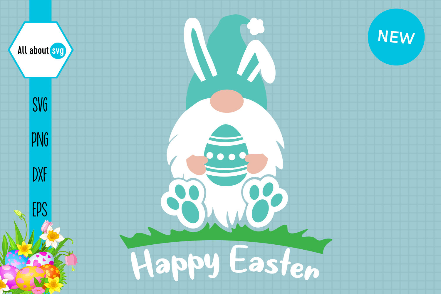 Easter Bunny Gnome Svg By All About Svg Thehungryjpeg Com