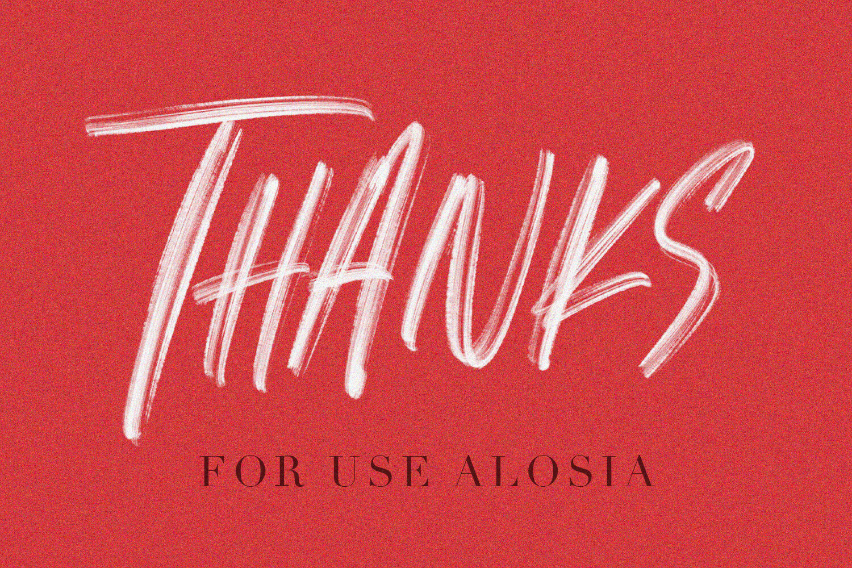 Alosia Svg Brush Font Free Sans By Maulana Creative