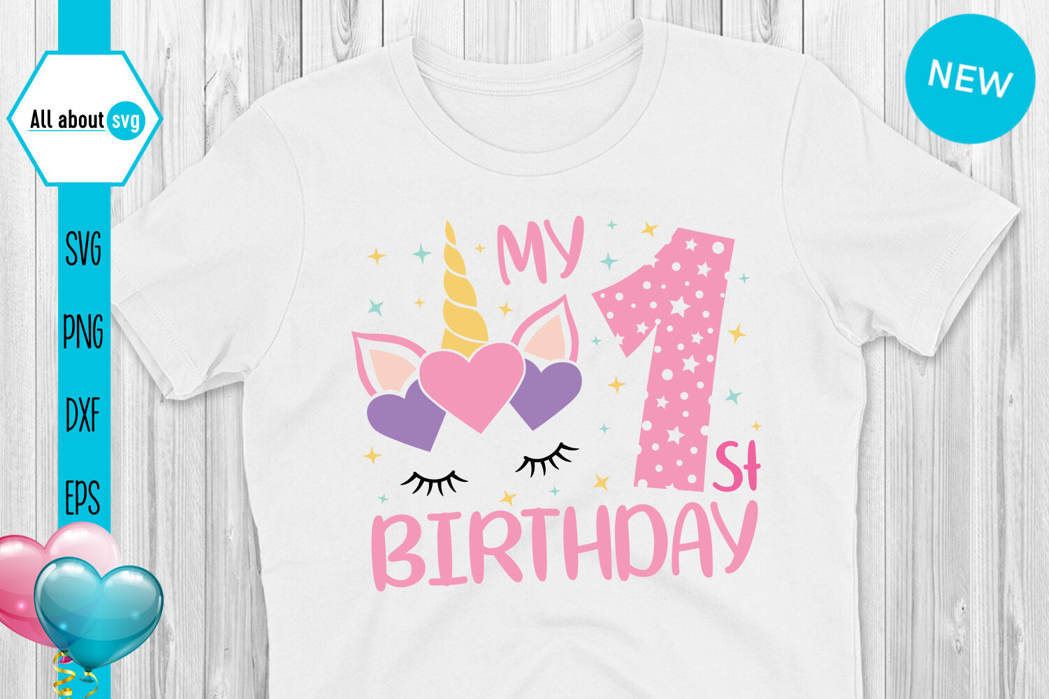 Unicorn Birthday Numbers Bundle Svg By All About Svg