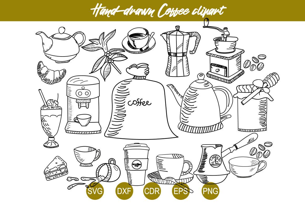 Coffee Svg Set Coffee Line Clipart Vector Bundle Coffee