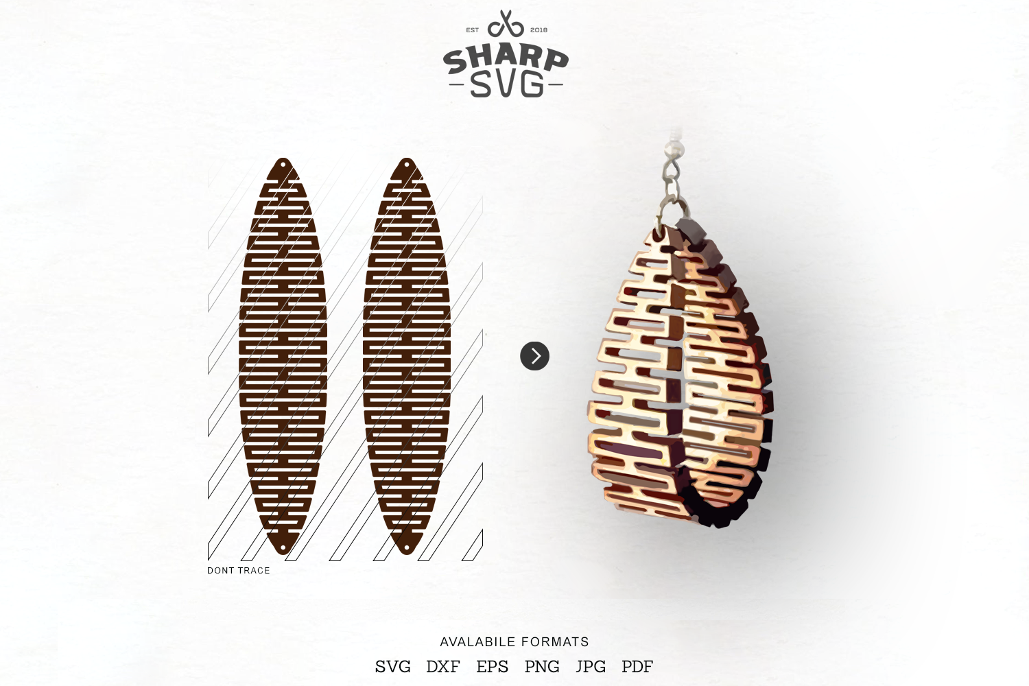 Sculpted Earring Svg Leather Twisted Earrings Cut Template By
