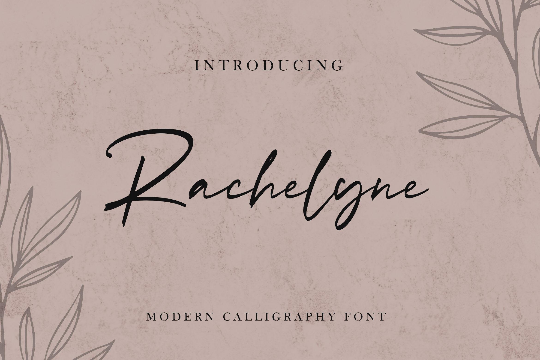 Rachelyne Modern Calligraphy Font By Stringlabs Thehungryjpeg Com