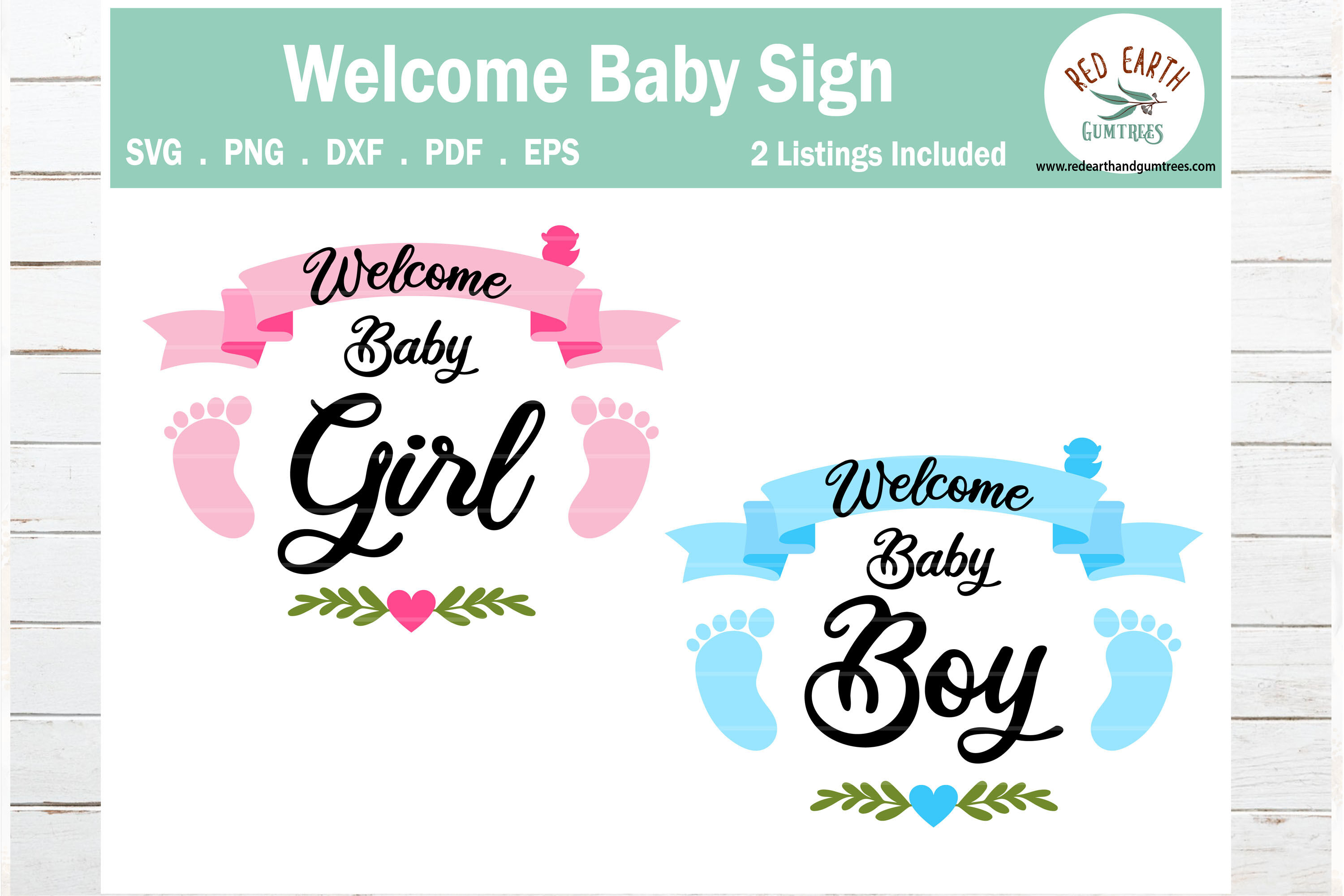 Welcome Baby Girl And Baby Boy Announcement Pregnancy Announcement
