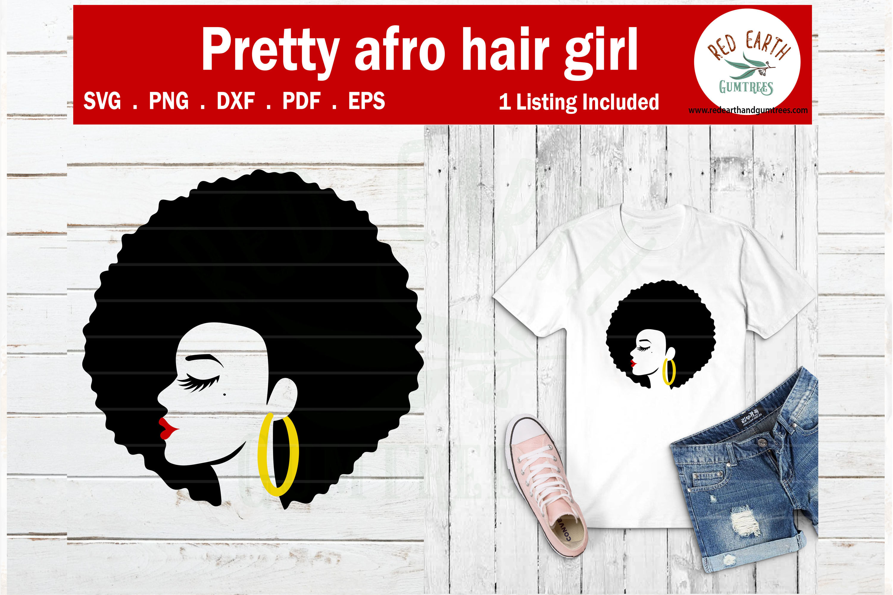 Afro Puff Hair African American Woman Svg Png Dxf Pdf Eps By