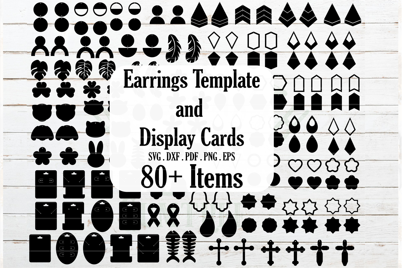 Huge Earrings And Earrings Card Display Templates Jewelry Template