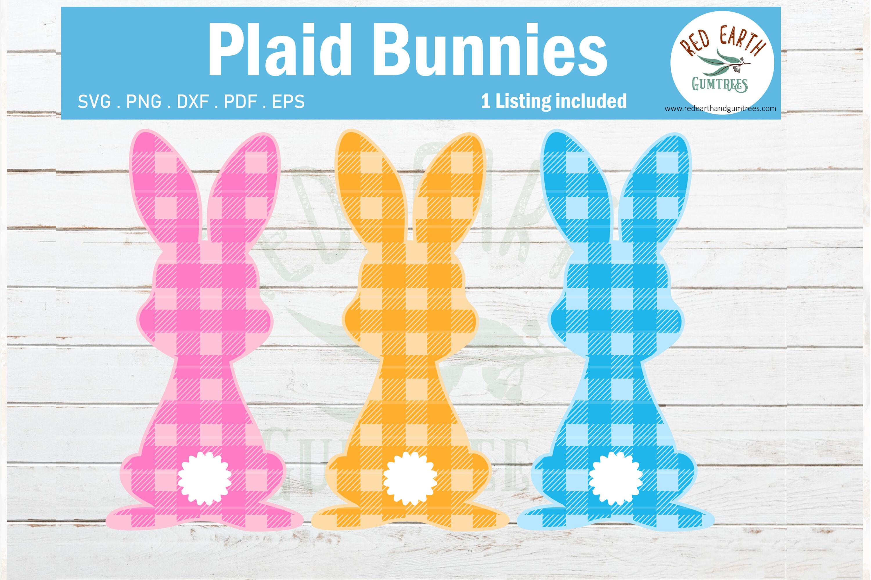 Easter Plaid Bunny Svg Gingham Easter Rabbit Svg Plaid Svg By