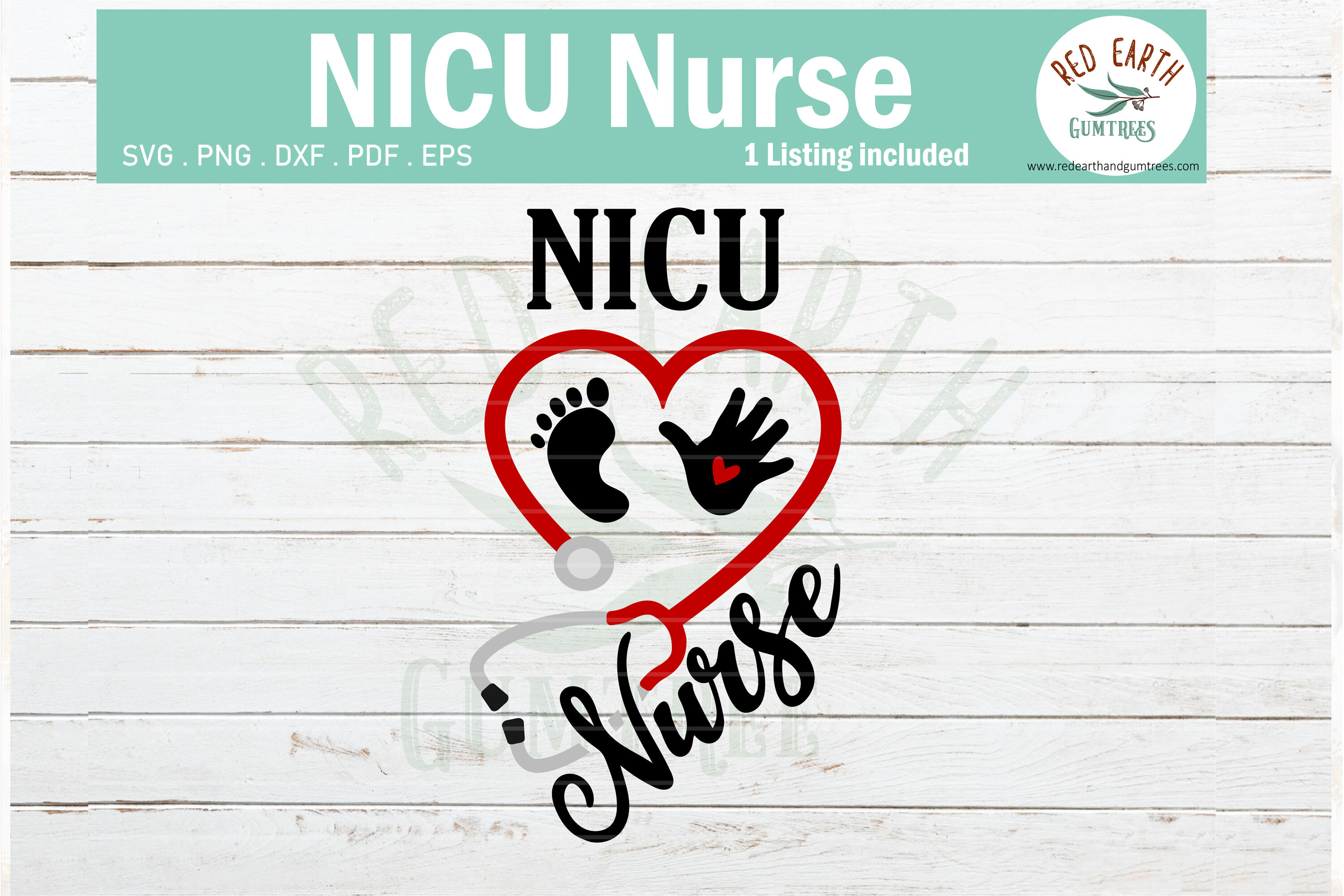Nicu Nurse Heart Stethoscope Svg Baby Hand Feet Svg Png Dxf By