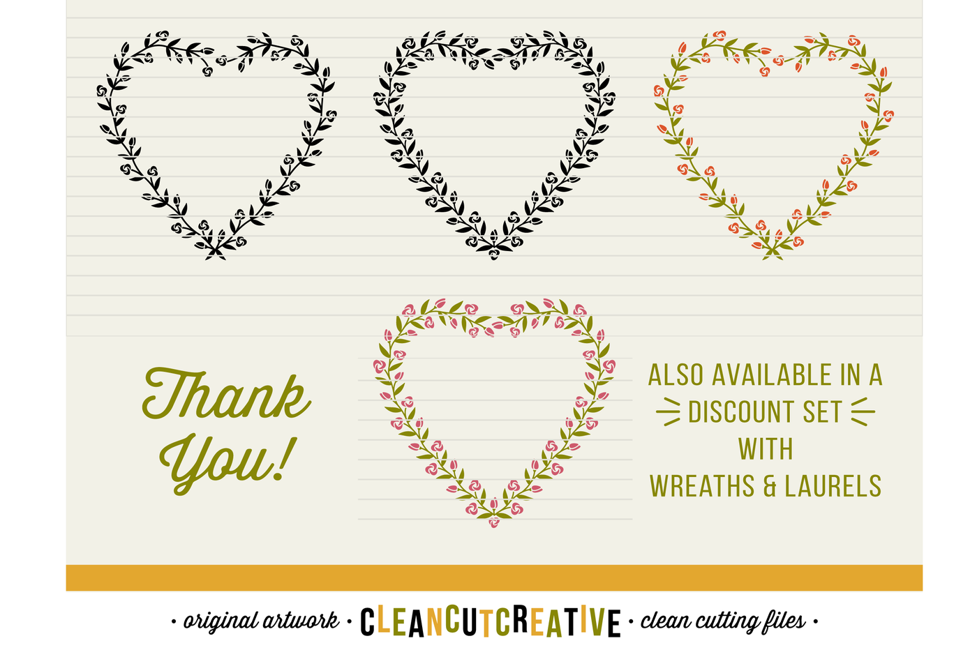 Floral Mega Bundle Svg Wreaths Laurels And Hearts Leaf Frames Svg Dxf Eps Png Cricut Silhouette Clean Cutting Files By Cleancutcreative Thehungryjpeg Com
