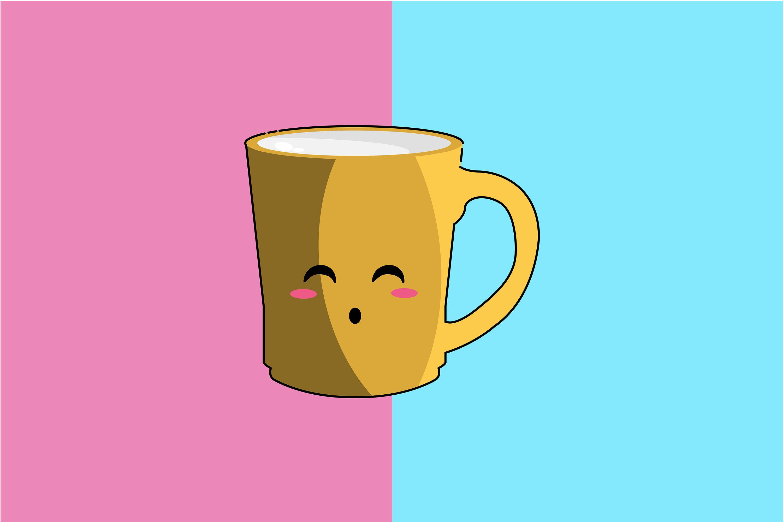 Kawaii Cute Mug Art By Red Sugar Design Thehungryjpeg Com