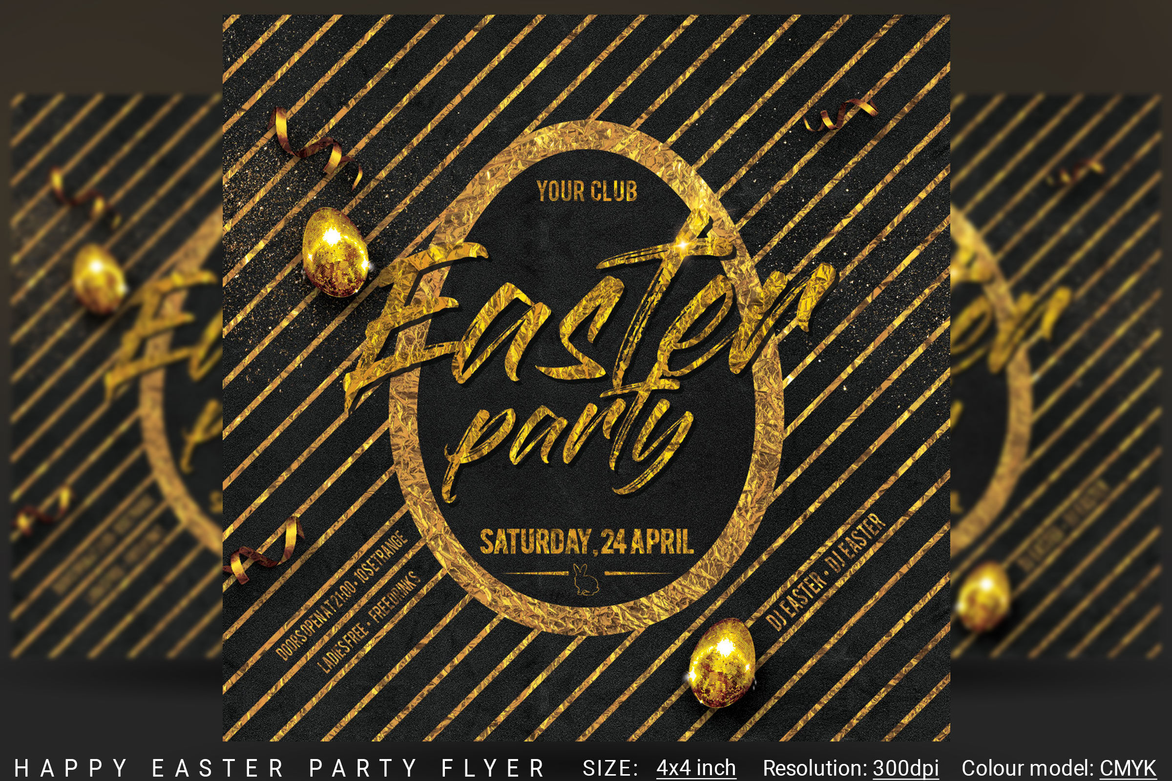 Happy Easter Party Flyer By Artolus Thehungryjpeg Com