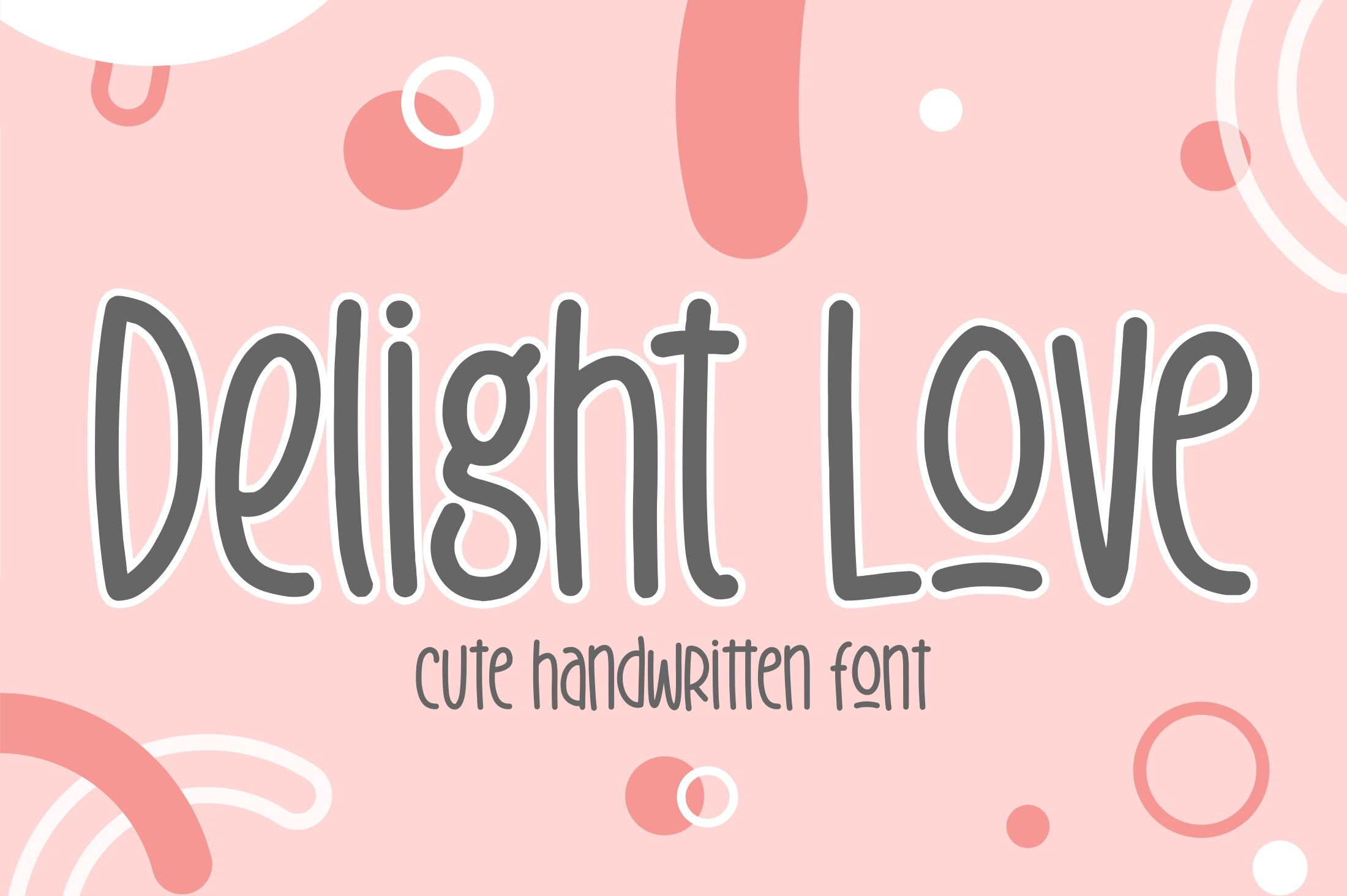Delight Love By Garisman Studio Thehungryjpeg Com