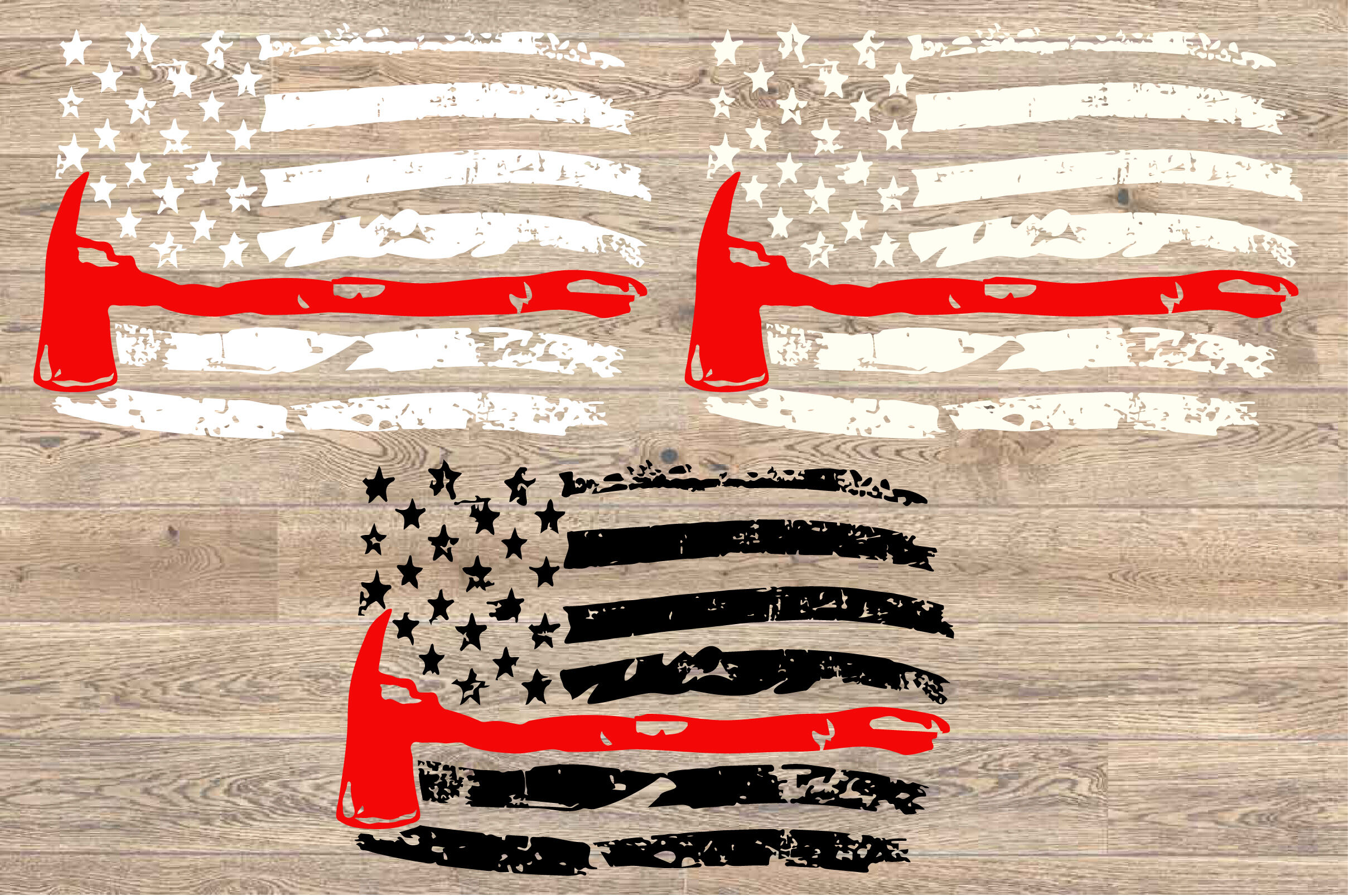 Distressed Firefighter Flag Axe Firefighter Svg Us Flag Fire