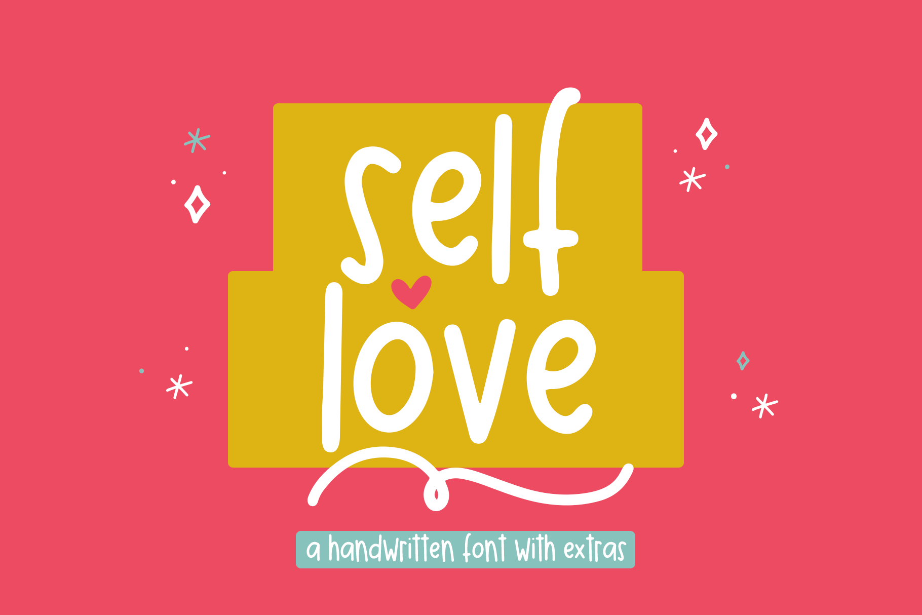 Self Love Font With Extras By Ka Designs Thehungryjpeg Com