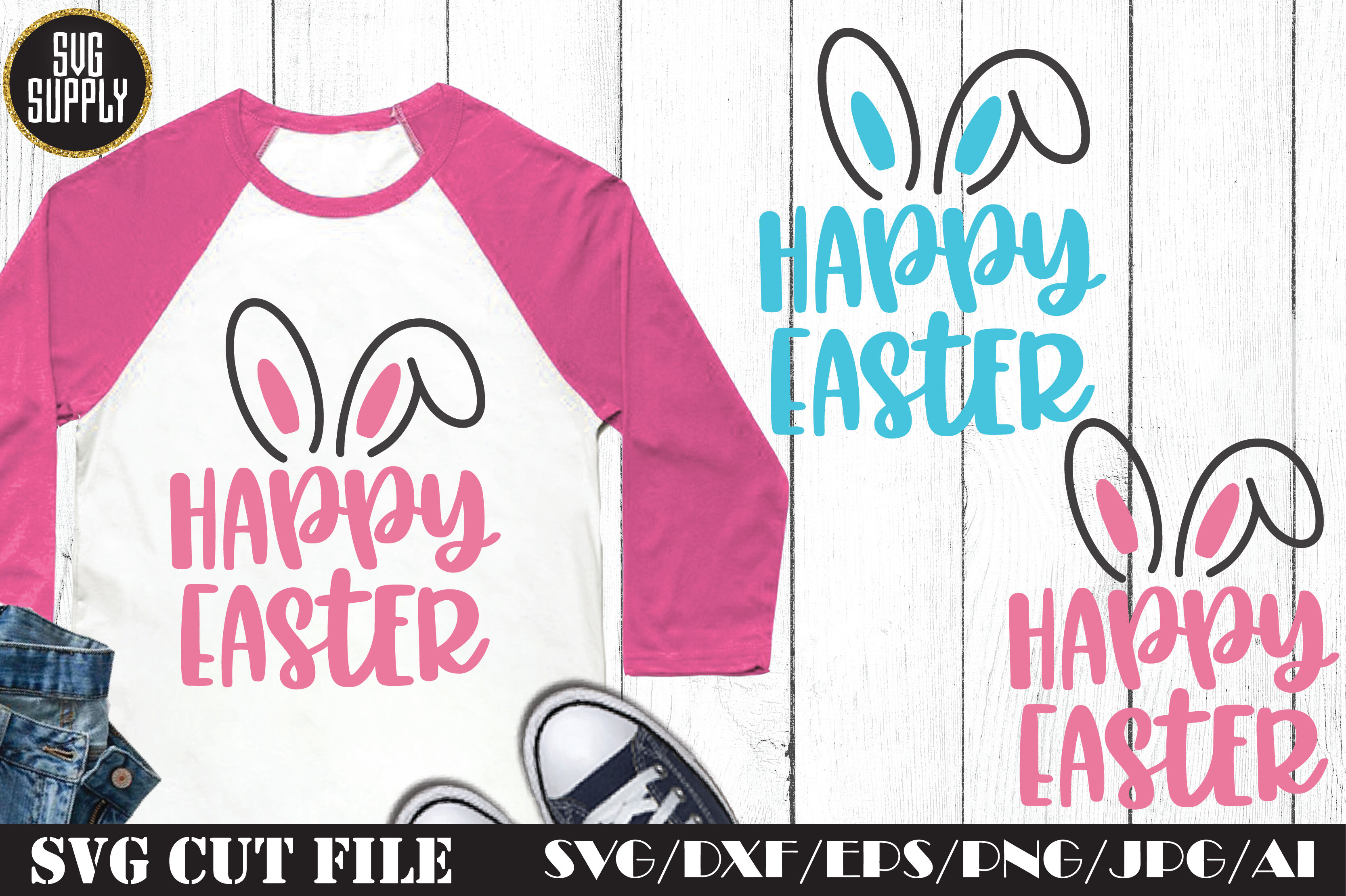 Happy Easter Svg Cut File By Svgsupply Thehungryjpeg Com