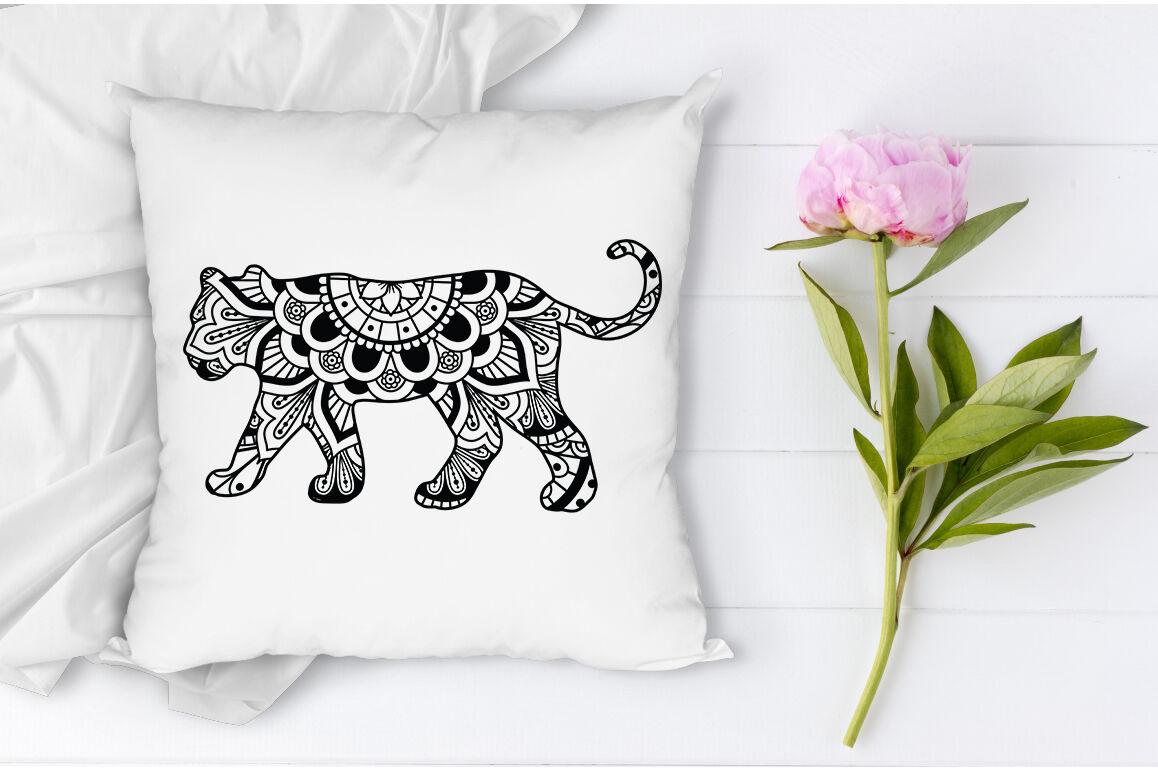 Download Lion Mandala SVG Cut Files, Lioness Mandala SVG. By Doodle ...