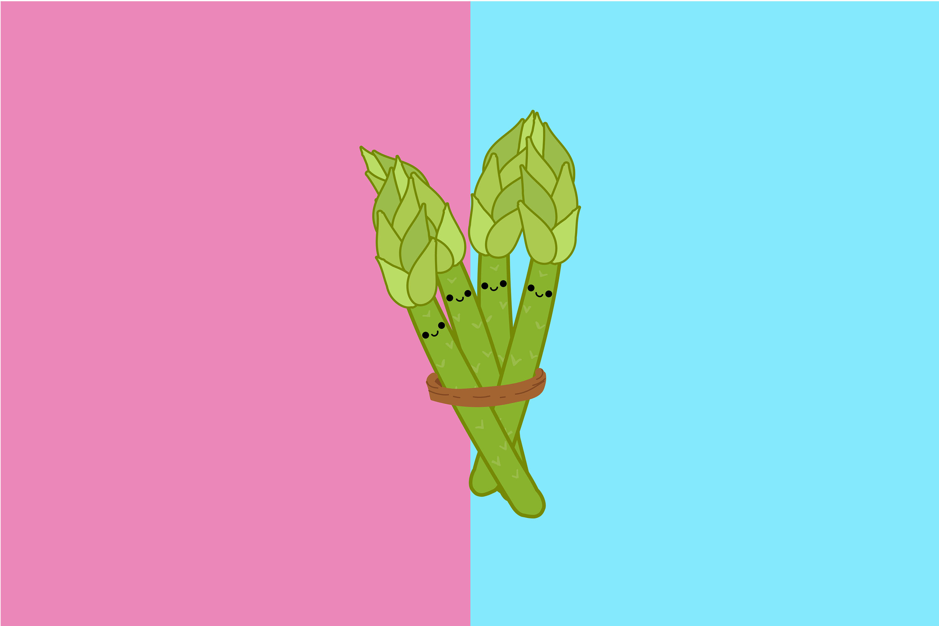 Kawaii Cute Asparagus By Red Sugar Design Thehungryjpeg Com