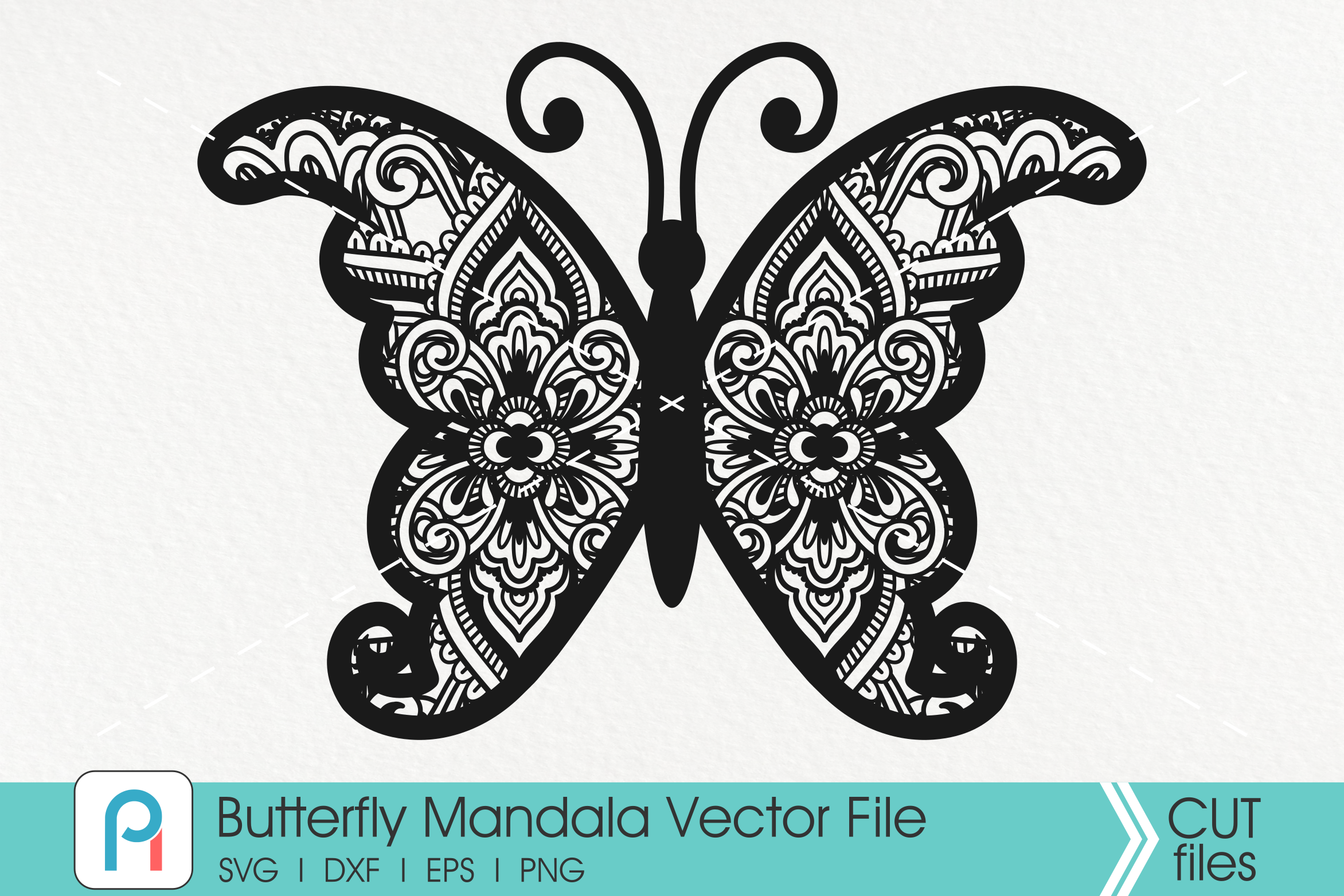 Butterfly Mandala Svg Butterfly Svg Mandala Svg Flower Svg By