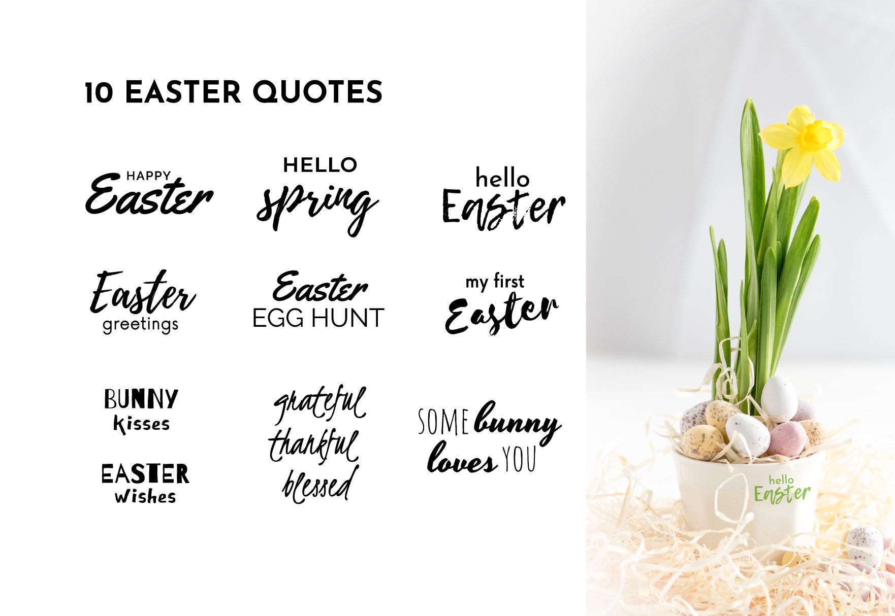 Easter Icons Quotes Eggs Bunny Svg By Blueoceanartstore