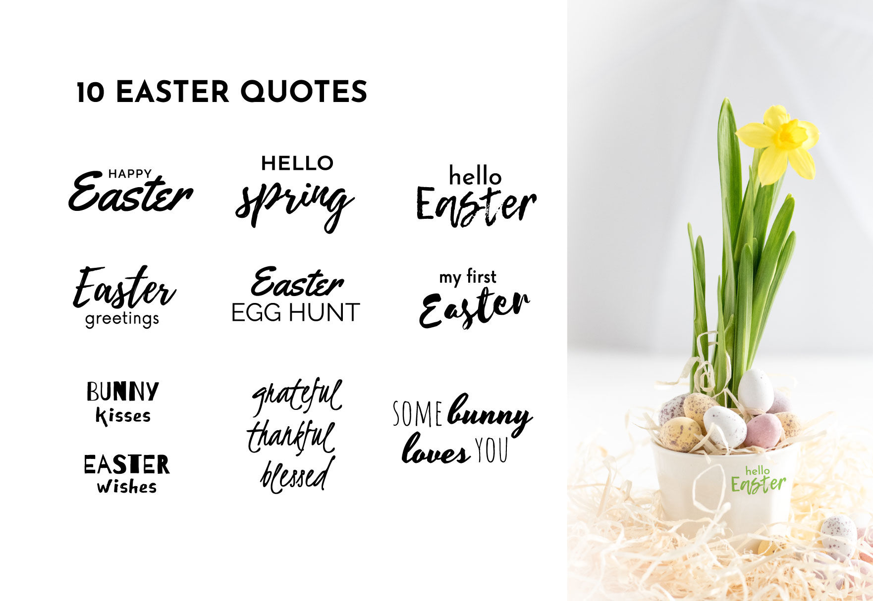 Happy Easter Quotes Svg By Blueoceanartstore Thehungryjpeg Com