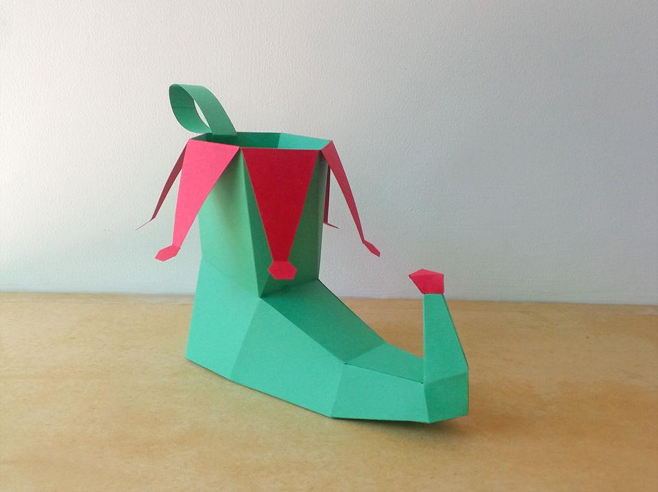 Diy Elf Shoe Christmas Shoe Christmas Costume By Paper Amaze