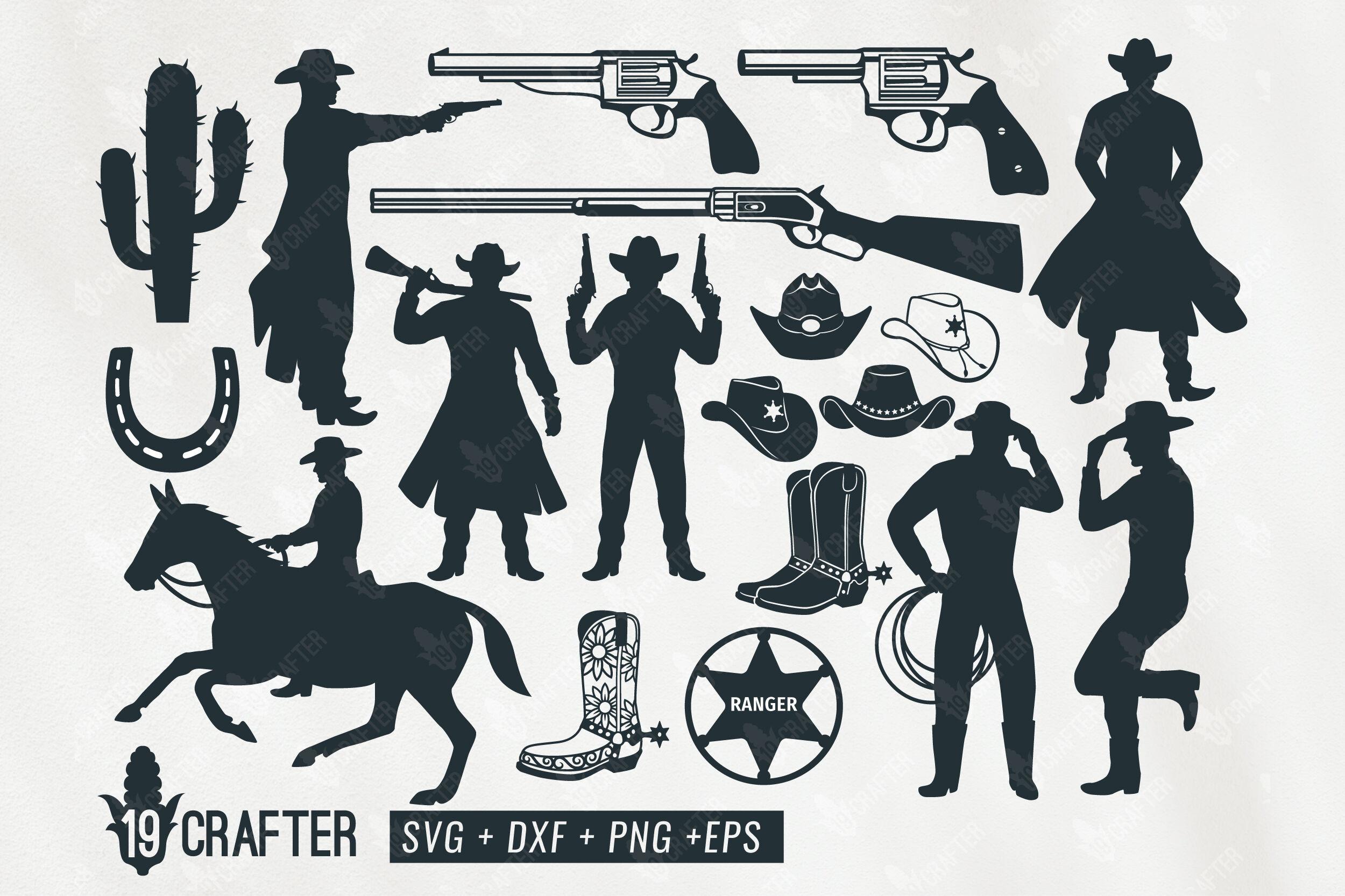 Western Cowboy Ranger Gunslinger Svg Bundle By Greatype19