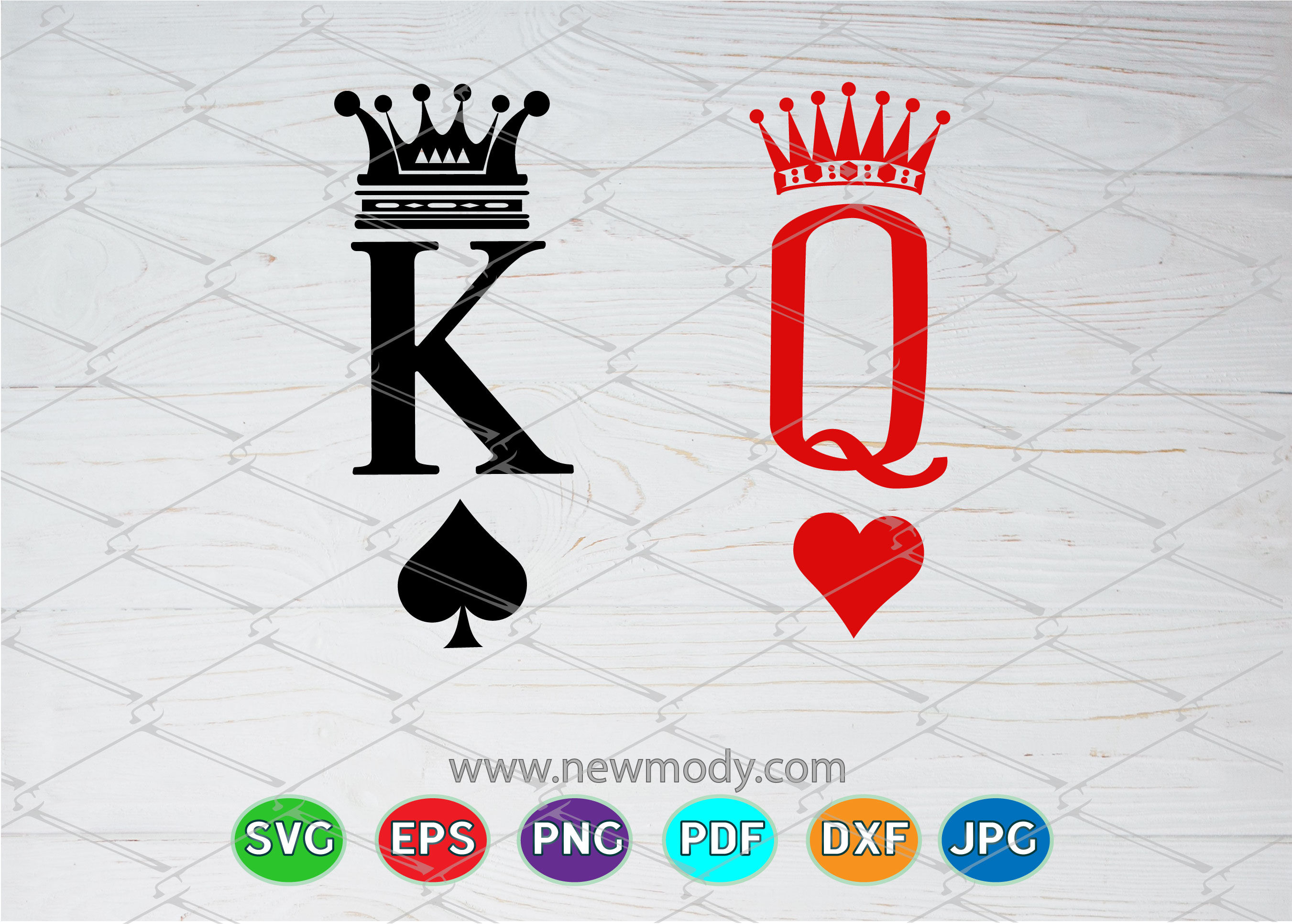 King And Queen Svg King Svg Queen Svg By Amittaart