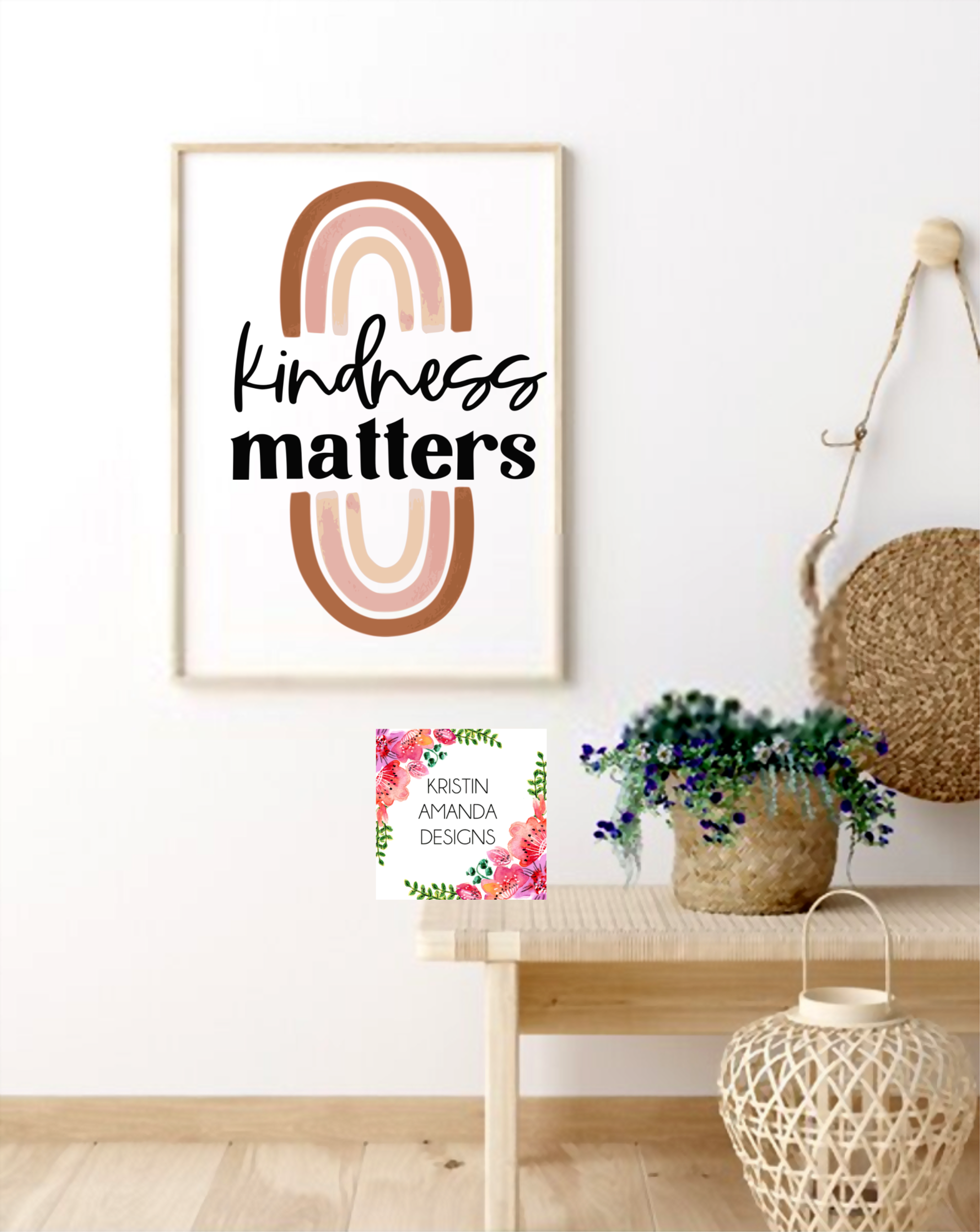 Kindness Matters Boho Rainbow Summer Spring Easter Svg Dxf Eps Png