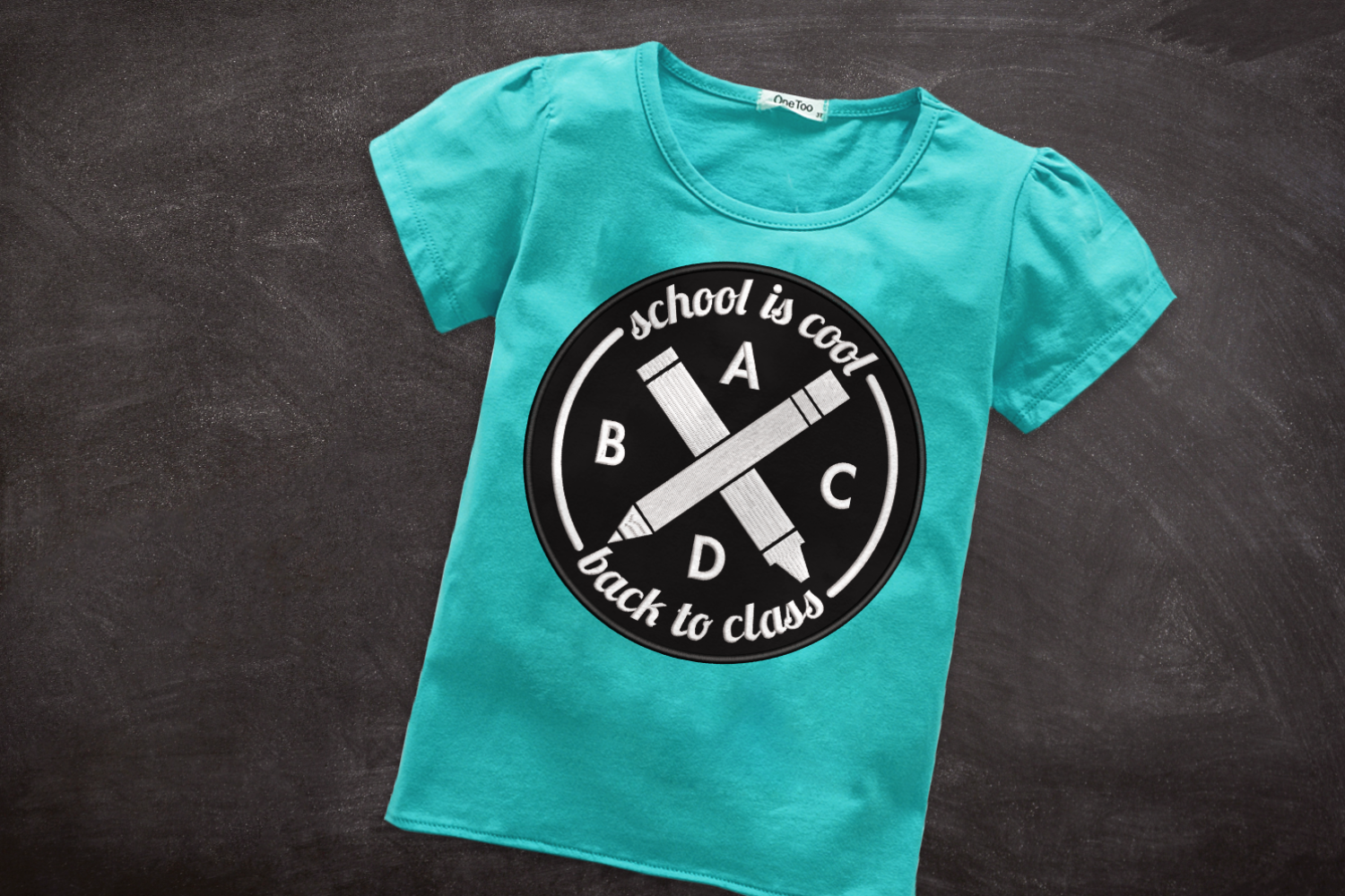 Hipster Logo Back To School Applique Embroidery By Designed By