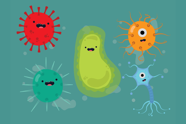 Corona Virus Art Colorful By Red Sugar Design Thehungryjpeg Com
